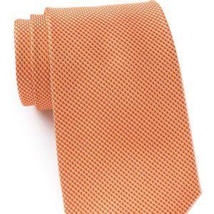 NWT! Michael Kors Sorento Solid Silk Tie Orange